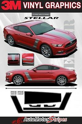 $137 • Buy Ford Mustang Stripes STELLAR Boss 302 Hood And Side Door Vinyl Graphic Decals