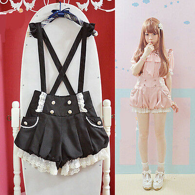 $ CDN23.35 • Buy Brand New Kawaii Girls Lolita Suspender Lace Pumpkin Shorts Cute Lantern Pants
