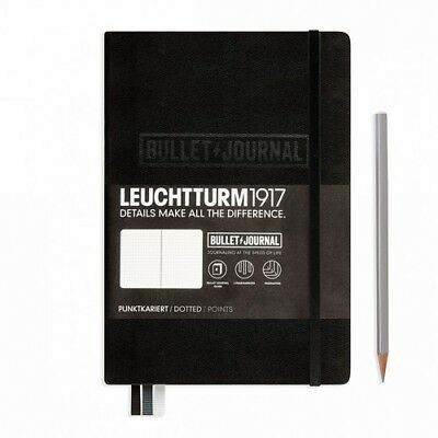AU39.95 • Buy BULLET JOURNAL A5 Hardcover DOTTED BLACK - Leuchtturm1917 346703