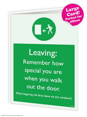Leaving Work Job Bon Voyage Travel Goodbye Good Luck Large Card Funny Humour  • 3.99£