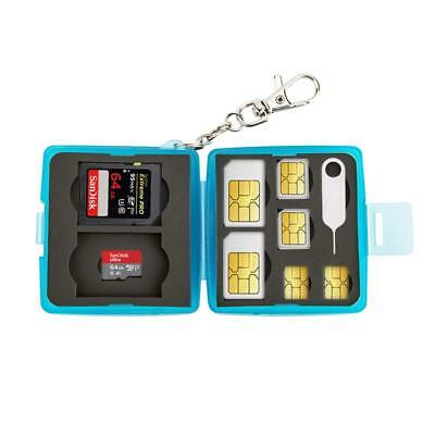 Memory Card Holder Storage Case For Micro SD SDHC SDXC & Sim Card With Keychain  • 4.95£