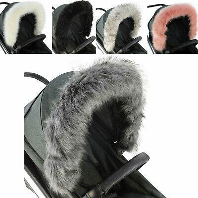 Pram Fur Hood Trim Attachment For Pushchair Compatible With I'Coo • 16.99£