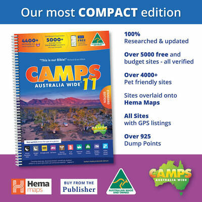 AU62.96 • Buy Camps 11 Free Camping Guide A4 Spiral Bound Book New - CAMPS 11