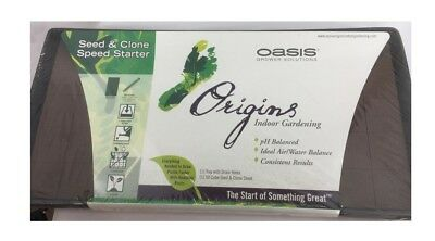 £27.85 • Buy 2pc Oasis Origins Root Cubes Seed & Clone 50 Cell W/ 1020 Tray W/ Holes