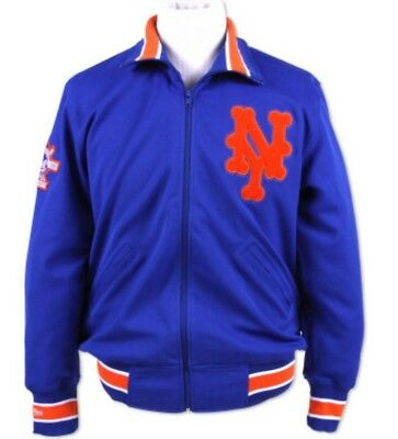 120c429af1d Authentic 1986 MLB Mitchell   Ness New York Mets Vintage Warm-up Jacket •  134.99