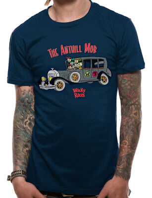 Wacky Races Anthill Mob Official Hanna Barbera Dastardly Muttley Blue Men Tshirt • 9.97£