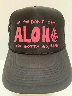 50274dcc7578af ... best price france volcom got aloha brah surf surfing hawaii hawaiian  black trucker snapback hat u2022