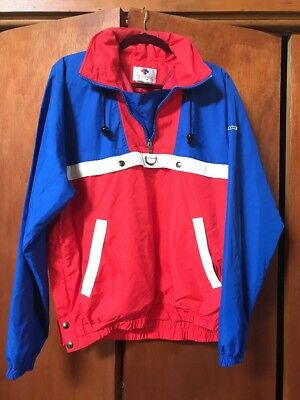 $25 • Buy VTG Descente Jacket Nylon Pullover T Snap Shell Color Block Windbreaker Sz L