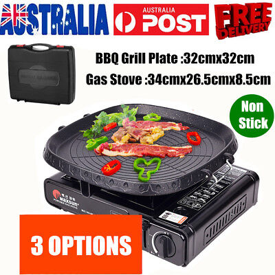 AU71.99 • Buy Portable Gas Stove Burner Butane BBQ Camping Gas Cooker With Non Stick Plate NEW