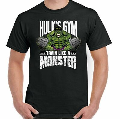 Gym T-Shirt Hulks Mens Training Top Bodybuilding MMA Fitness The Incredible Tee • 9.49£