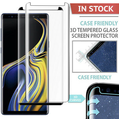 $ CDN2.45 • Buy Fr Samsung Galaxy Note 9 S8 S9Plus Case-Friendly Tempered Glass Screen Protector