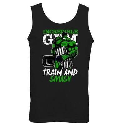 Incredible Gym Vest Mens Training Top Bodybuilding MMA Fitness The Hulk Tee • 8.99£