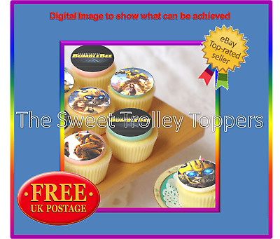 Transformers Bumblebee Edible Rice/Wafer Paper Icing Cupcake Cake Toppers • 1.89£