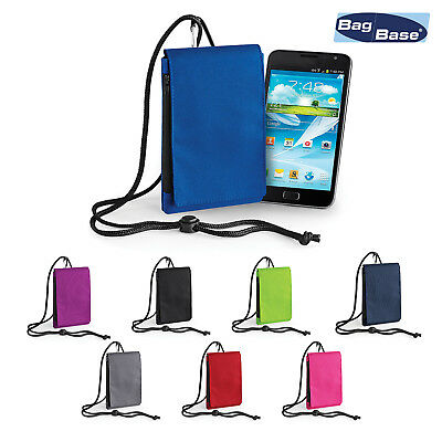 BagBase Phone Neck Cord Pouch BG49 - Zippered Protected Cover Case • 5.99£