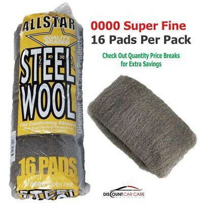 $10.95 • Buy Super Fine Steel Wool Pads # 0000 - High-Quality Professional - 16 Pads Pack