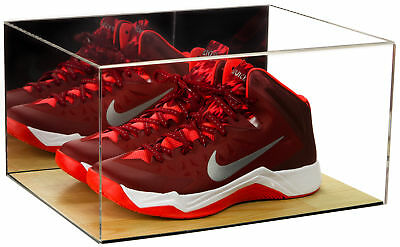 Deluxe Acrylic Basketball Shoe Display Case With Mirror And Wood Floor (A026) • 65.29$