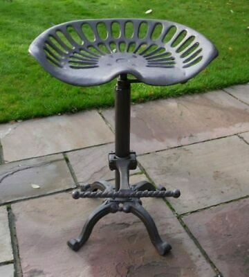 AU129.29 • Buy Industrial Urban Cast Iron Bar Stool Shabby Chic Vintage Kitchen Tractor Seat