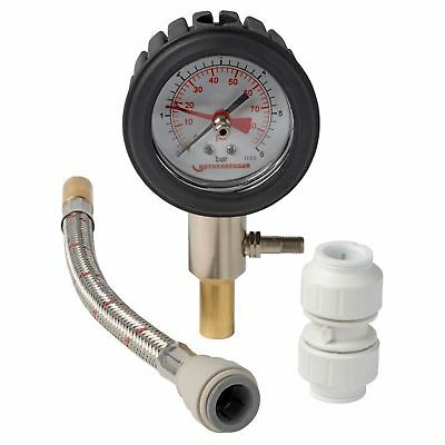 Rothenberger Dry Pressure Test Kit 0 - 6bar 15mm Push Fitting Rubber Dial Case • 30.95£