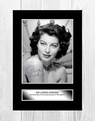 Ava Gardner A4 Reproduction Signed Photograph Picture Poster. Choice Of Frame. • 6.95£