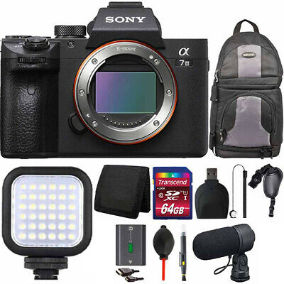 $ CDN2357.93 • Buy Sony Alpha A7 III Mirrorless Digital Camera (Body Only)+ LED Light Accessory Kit