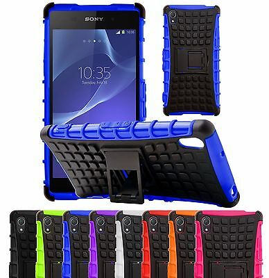 $ CDN7.58 • Buy Heavy Duty Tough ShockProof Builder Hard Stand Case Cover For Sony Xperia Phones