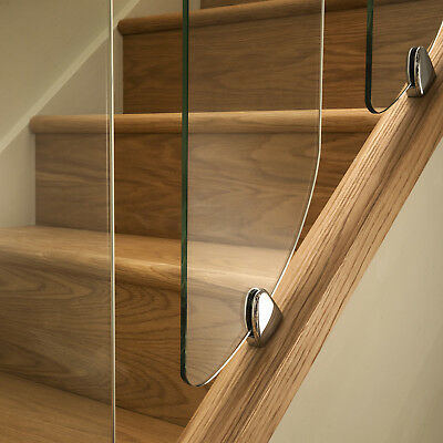 Axxys Clarity Glass Panels, Chrome Or Brushed Clamps Stair Or Landing Options  • 20£
