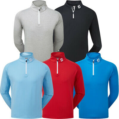 FootJoy Mens Chillout Golf Pullover Sweater 1/4 Zip Jumper - Athletic Fit • 39.95£