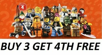 £9.99 • Buy Lego Minifigures Series 4 8804  Pick Choose Your Own + Buy 3 Get 1 Free