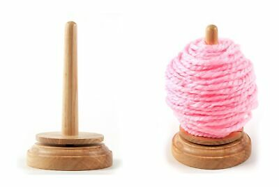 Trimits Classic Knit Wooden Spinning Yarn And Thread Holder Wool Winder Storage • 9.95£