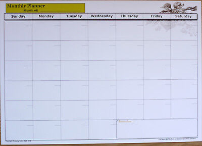 A2 Size Dry Wipe Laminate Monthly Wall Planner Office Organiser  • 3.45£
