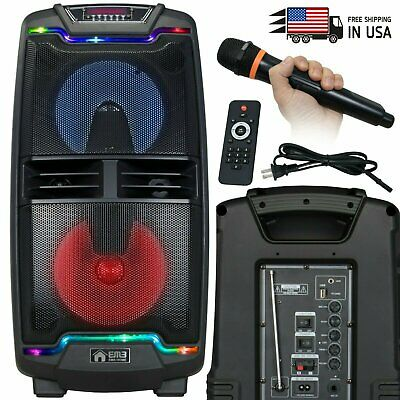 $119.99 • Buy EMB PKL208BT 1000 Watt Rechargeable  DJ PA Speaker W/ MIC, USB, SD, Bluetooth