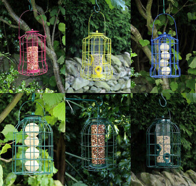 Wild Bird Hanging Feeder Squirrel Proof Feeding Station Seeds Nuts S Hooks Hang • 8.09£