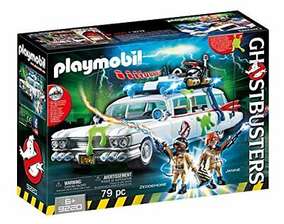 Playmobil Ghostbusters Ecto 1 Car Realistic Siren Sound Kids Activity Play Set • 34.05£