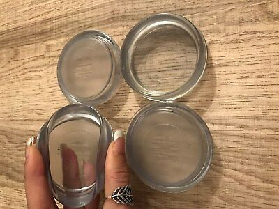 £3.40 • Buy 4 X SMALL CLEAR RUBBER CASTOR CUPS Carpet/Floor Chair/Sofa Furniture Protectors