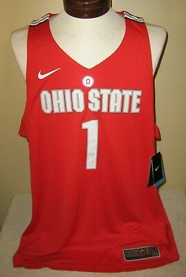 85076af01 Nike Elite Ohio State Buckeyes  1 Sewn Basketball Jersey Red Mens 2xl Nwt •  50.00