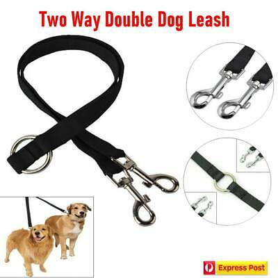 AU5.77 • Buy Two Way Double Dog Leash Lead Walk Two Dogs With One Lead COUPLER NYLON HARNESS