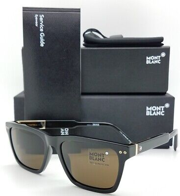 5f20a6a7e006 New Mont Blanc Sunglasses MB694S 01J Black Brown Zeiss AUTHENTIC 694S •  199.99