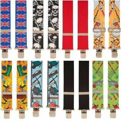 Mens Work Trouser Braces 2  Wide Heavy 100 Designs-One Size Fits All • 10£