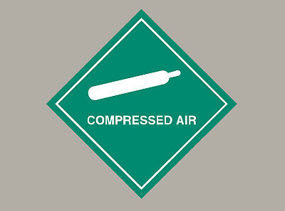 6 X Compressed Air Stickers Signs • 3.10£
