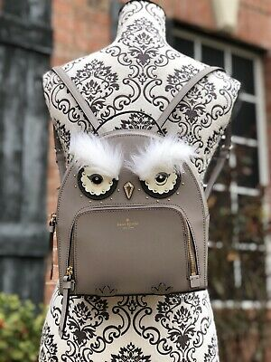 $ CDN197.28 • Buy Nwt Kate Spade Leather Owl Tomi Star Bright Backpack Bag In Cityscape/grey
