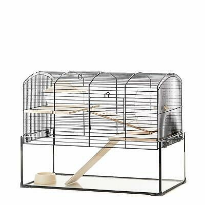 Gerbil Rats Hamsters Chinchillas Cage - Small Pets Shelves Ladders Accessories • 74.97£