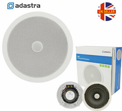 £39.99 • Buy ADASTRA 8  Ceiling Speaker 2-way With Directional Tweeter White Wall C8D 120W