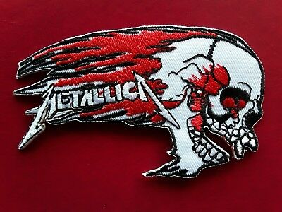 £3.39 • Buy Metallica  Heavy Metal Rock Pop Music American Band Embroidered Patch Uk Seller
