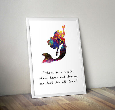 Little Mermaid, Print, Poster, Disney, Quote, Wall Art, Gift, Inspirational • 3.07£