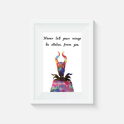 Maleficent, Print, Poster, Disney, Quote, Wall Art, Gift, Inspirational, Gift • 4.14£