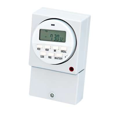 £16.65 • Buy Immersion Heater Timer Switch Digital 16 Amp Electronic 7 Day Programme White