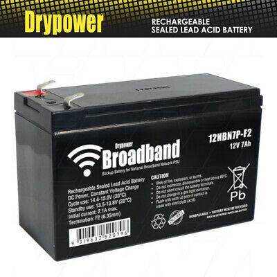 AU41.90 • Buy Drypower Broadband 12V 7Ah Sealed Lead Acid Battery UPS Style Construction