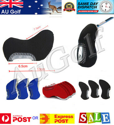 AU19.90 • Buy Golf Club Head Covers For Irons With Clear Window To Identify Club. Pack Of 10.