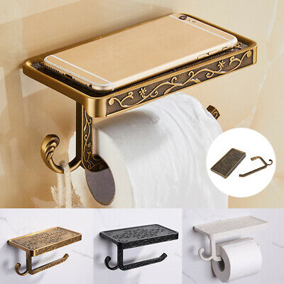 AU21.84 • Buy Toilet Paper Roll Phone Holder Tissue Rack Storage Shelf Bathroom Accessory Home
