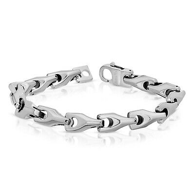 New Heavy Biker Tungsten Carbide Men's Bracelet (tuc 001) • 36.11£